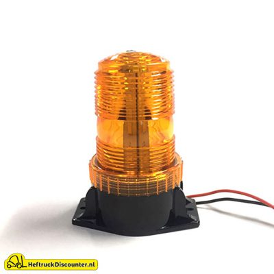 Oranje flitslamp heftruck
